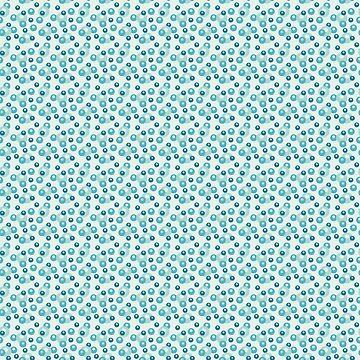 Pastel greenish blue bubble pattern by ShineEyePirate