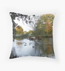 by the duck pond Throw Pillow