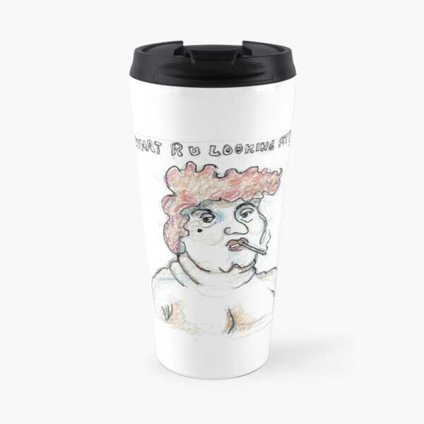 What R U Looking At? Travel Mug