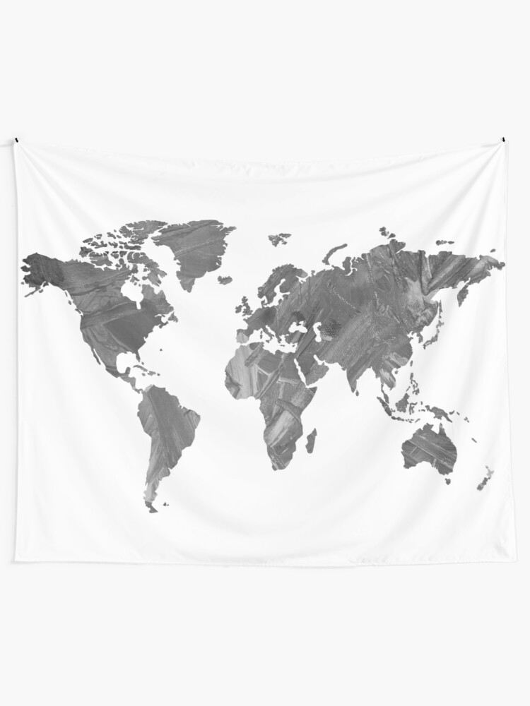Alternate view of MAP-B&W Freedom vibes worldwide Tapestry