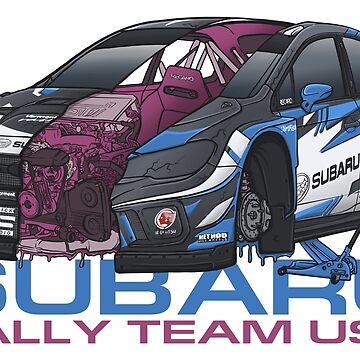 SRTUSA Subaru WRX STI Rally Car by SprayPatrick