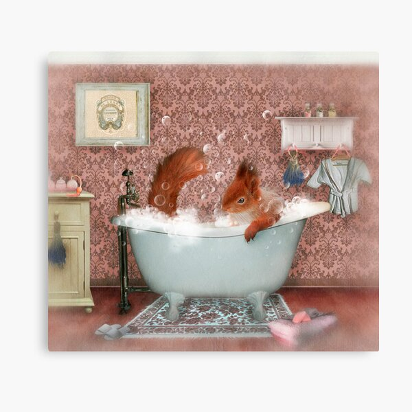 Miss Suzy Takes a Bath Canvas Print