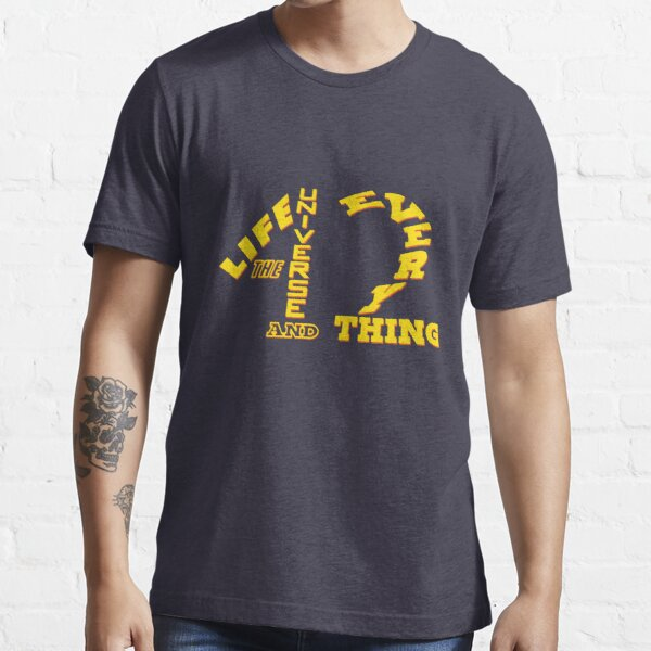 42 - Life The Universe and Everything - HHGTTG Hitchhikers Scifi Geek Apparel Essential T-Shirt