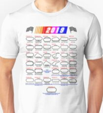 Schedule Nascar Cup Series 2019 white Unisex T-Shirt