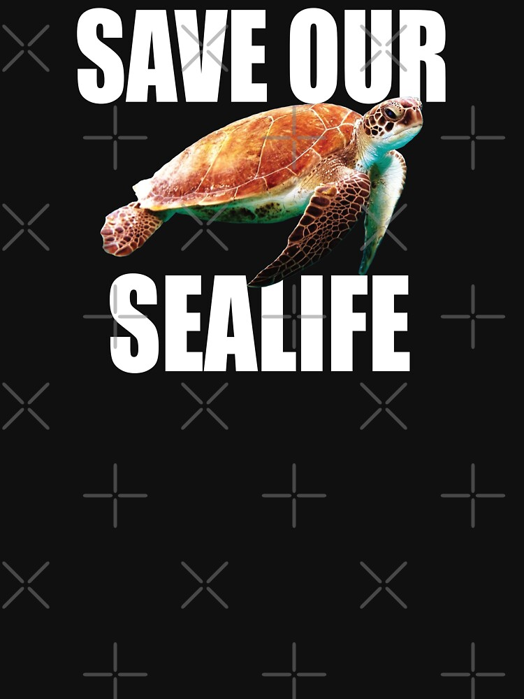 Save Our Sealife Turtle Design  by kudostees