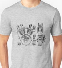 1924 J.A.P. v twin engine T-Shirt etc..... Unisex T-Shirt
