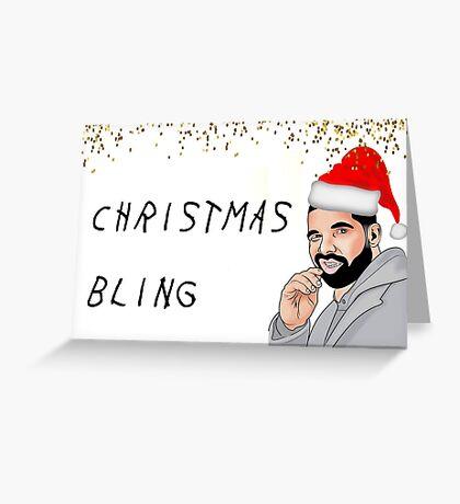 Drake Christmas Bling, tarjeta de felicitación de rapero, tarjetas de felicitación de meme Tarjeta de felicitación