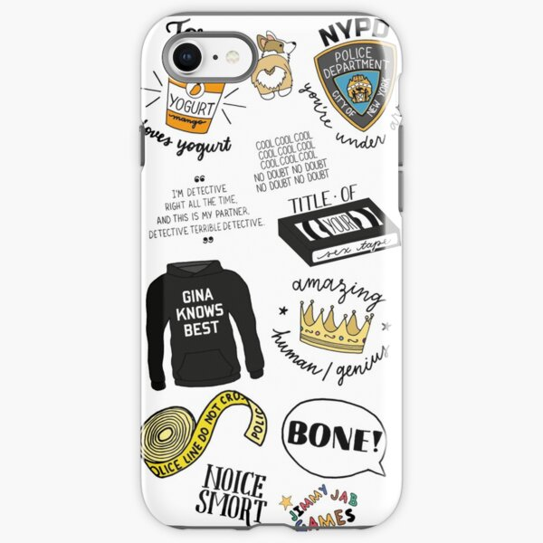 Brooklyn Nine Nine TV Show Art iPhone Tough Case
