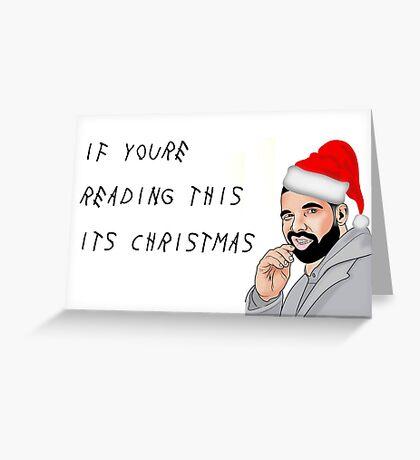 Drake, es Navidad, tarjeta de felicitación de rapero, tarjetas de felicitación de meme Tarjeta de felicitación