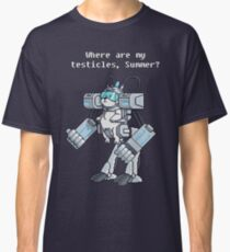 Where Are My Testicles - Mecha Snuffles - Rick and Morty Classic T-Shirt