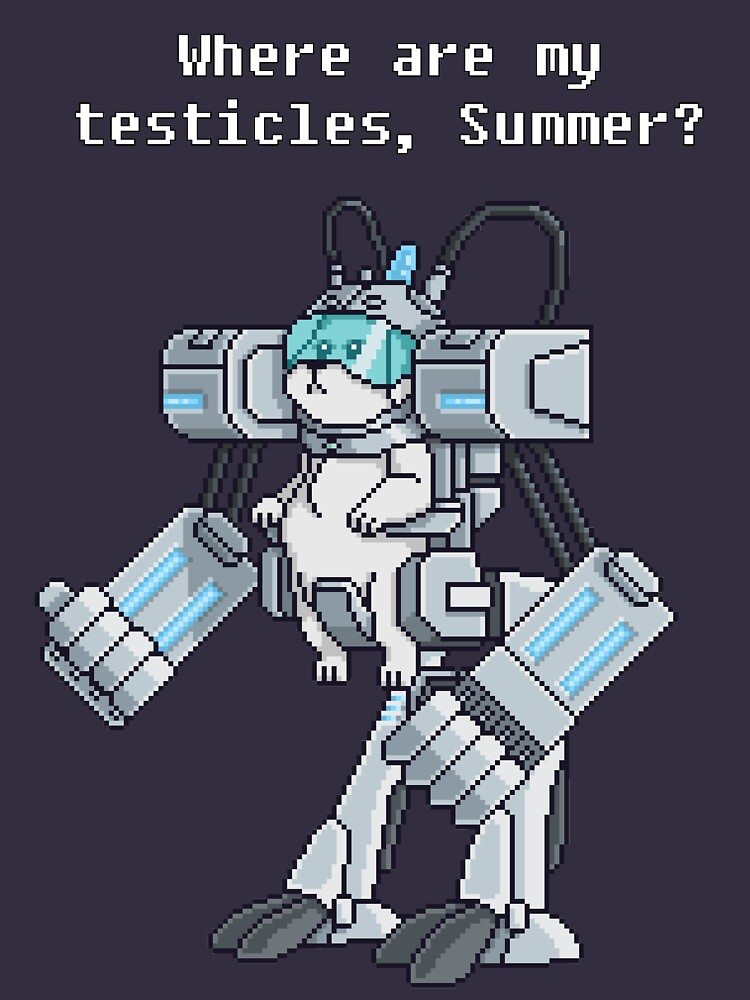 Where Are My Testicles - Mecha Snuffles - Rick and Morty by Doomgriever