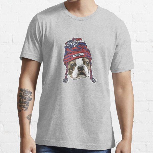 Boston Sports Terrier Red Beanie Essential T-Shirt
