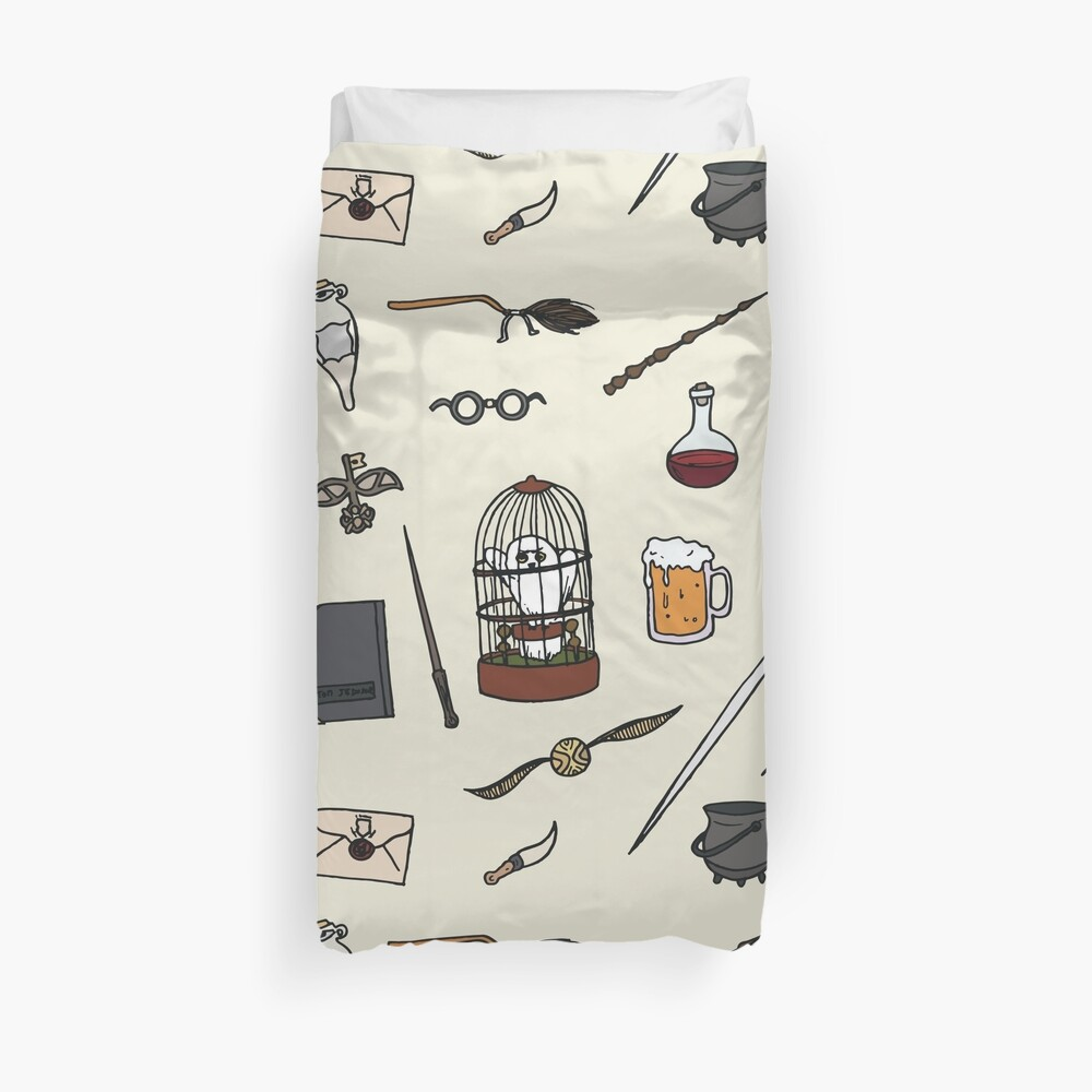 Owl and wand Duvet Cover
