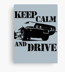 keep calm and drive Canvas Print