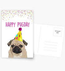 Happy Pugday! Birthday card Postcards