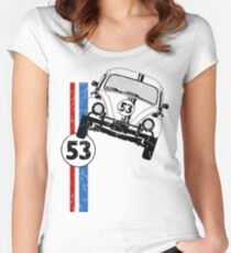 VW Herbie 53 Women's Fitted Scoop T-Shirt