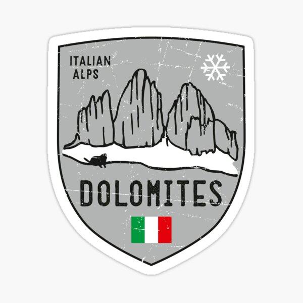 Dolomites Mountain Italy Emblem  Sticker