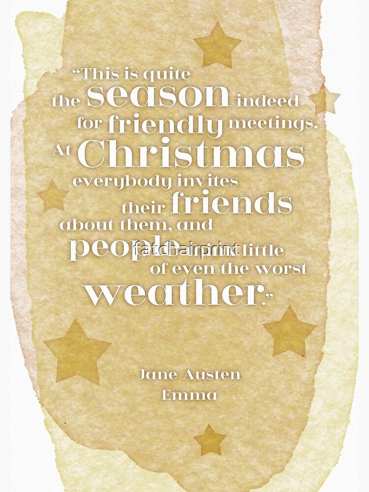 Literary Christmas Card, Emma, Jane Austen, Christmas Quote, Friendship |  Greeting Card