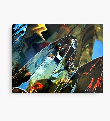 Car light Metal Print