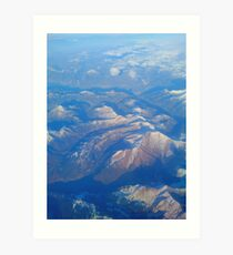 Mountains from the window seat Art Print