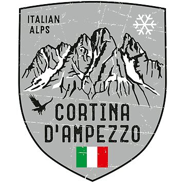 Cortina d Ampezzo Mountain Italy Emblem  by posay
