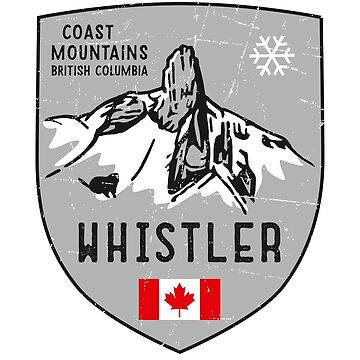 Whistler Mountain Canada Emblem  by posay