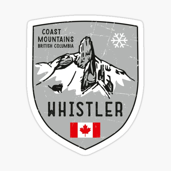 Whistler Mountain Canada Emblem  Sticker
