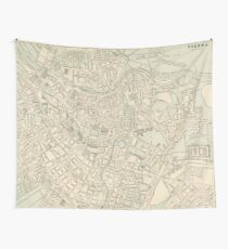 Vintage Map of Vienna Austria (1901) Wall Tapestry