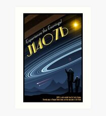 Space Travel Poster J1407b Art Print