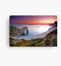 Durdle Door Sunset Canvas Print