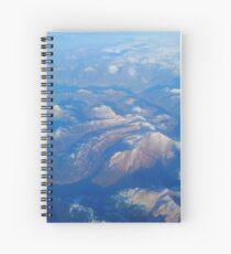 Mountains from the window seat Spiral Notebook