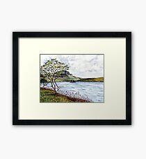 Minimalistic river view landscape Framed Print