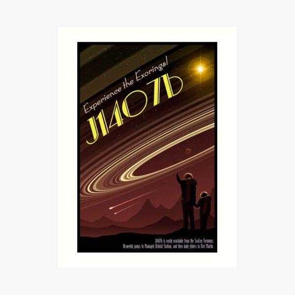 Space Travel Poster J1407b - Version 2 Art Print