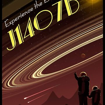Space Travel Poster J1407b - Version 2 by magarlick