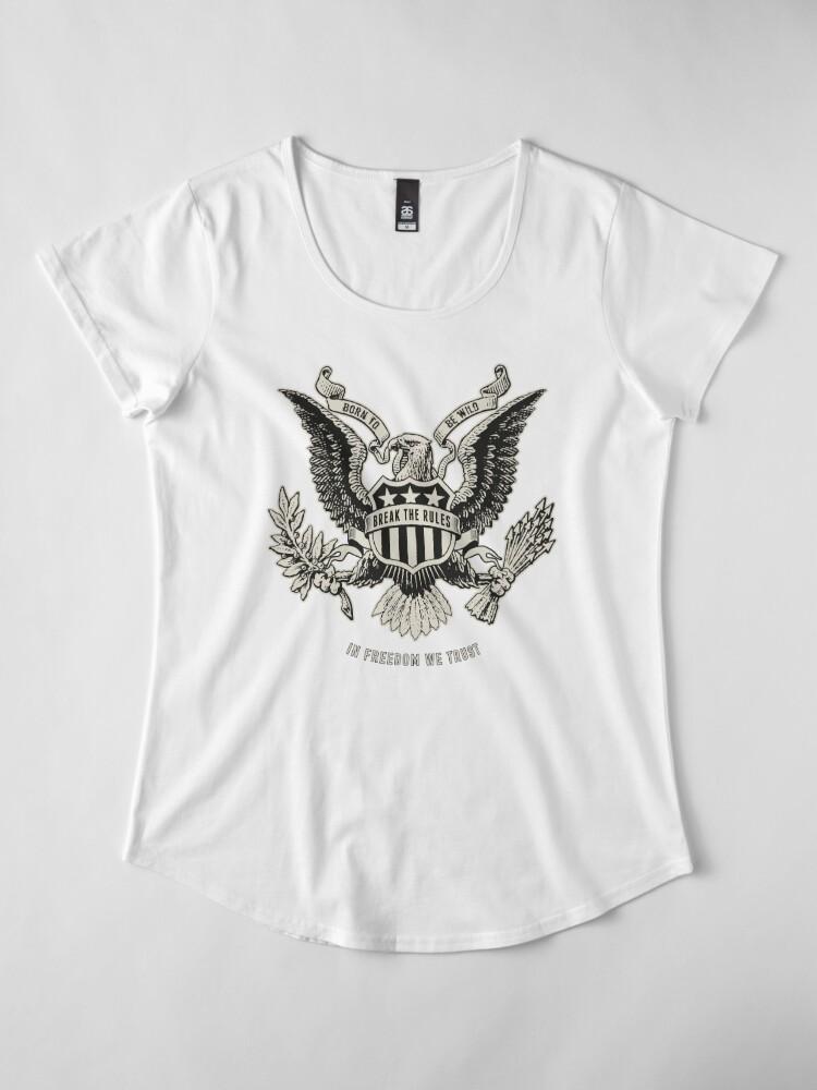 T-shirt premium échancré ''Freedom': autre vue