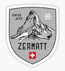 Zermatt Mountain Switzerland Emblem  Sticker