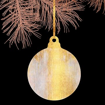 Park Avenue holiday ornament, golden boelegant style by Glimmersmith