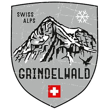 Grindelwald Mountain Switzerland Emblem  by posay