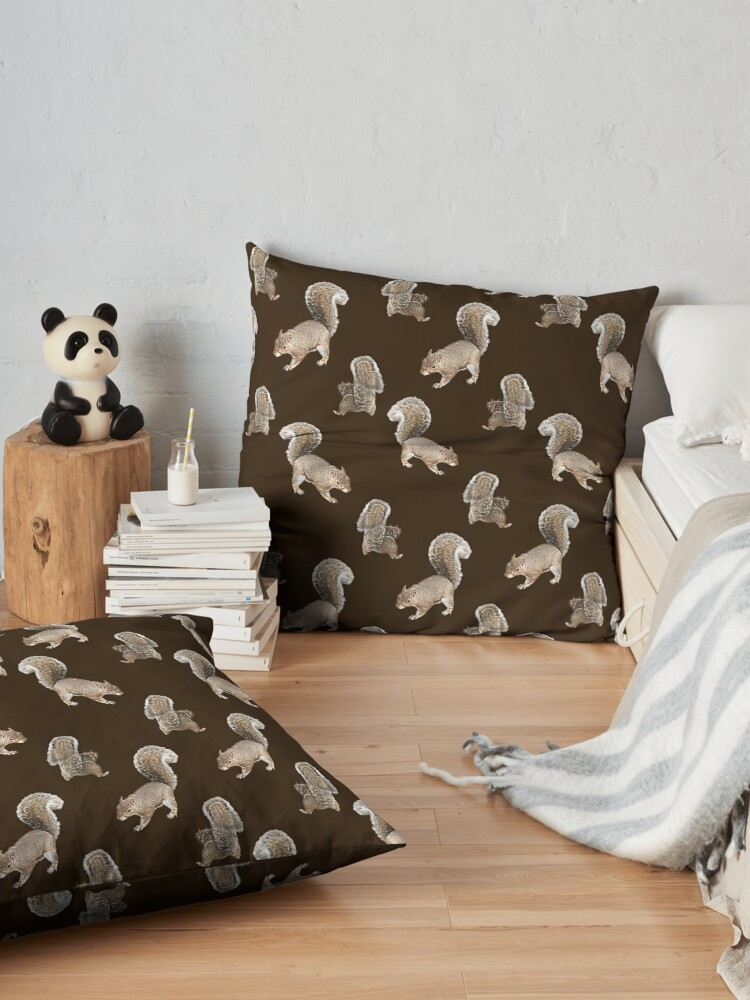 Alternate view of Squirreling Floor Pillow