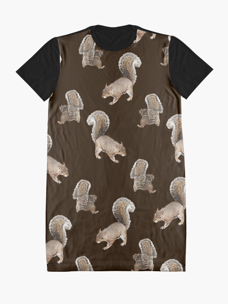 Alternate view of Squirreling Graphic T-Shirt Dress