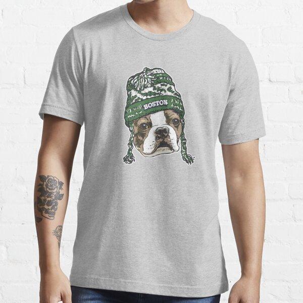 Boston Terrier Green Beanie Essential T-Shirt