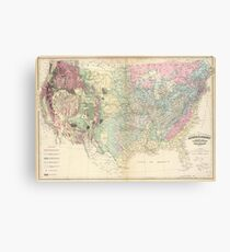Vintage United States Geological Map (1874) Canvas Print