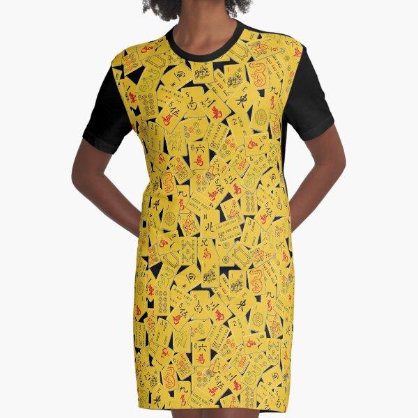 Mahjongg Mess Graphic T-Shirt Dress