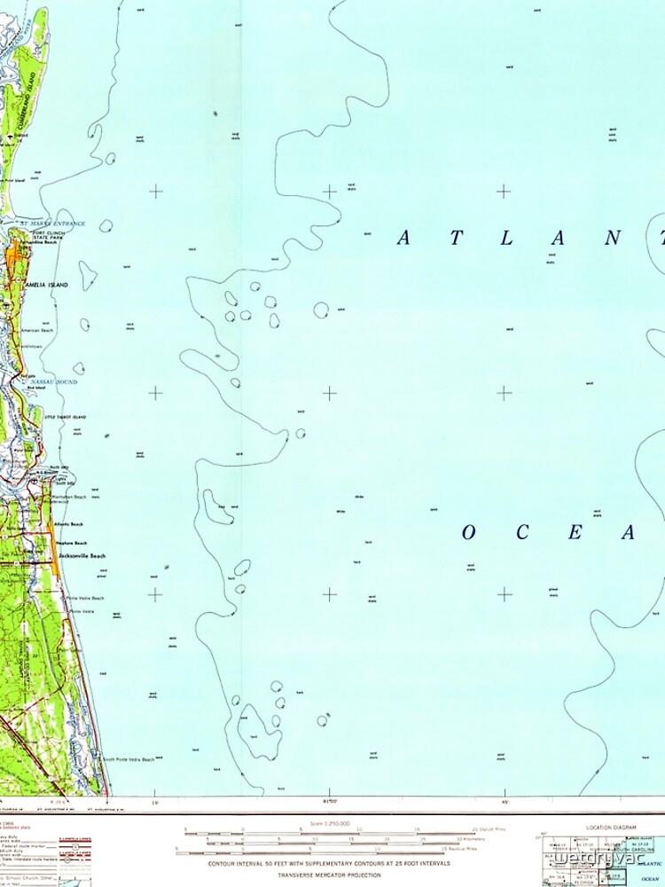 USGS TOPO Map Florida FL Jacksonville 346821 1957 250000 von wetdryvac