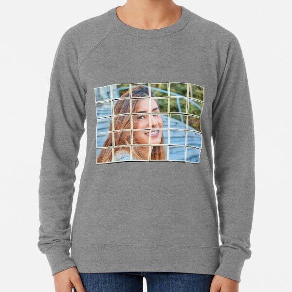 Mosaic of a beautiful woman Lightweight Sweatshirt