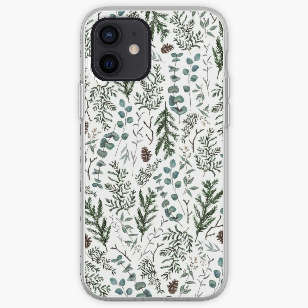 Pine and Eucalyptus Greenery iPhone Case & Cover
