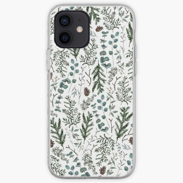 Pine and Eucalyptus Greenery iPhone Soft Case