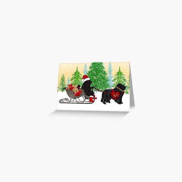 Newfoundland Dog Christmas Card Greeting Card