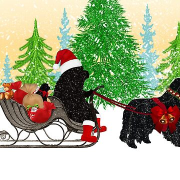 Newfoundland Dog Christmas Card by itsmechris