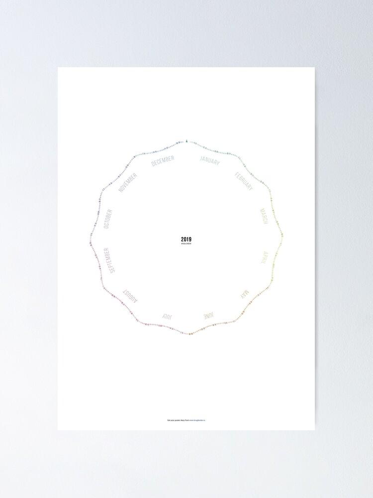 Alternate view of Kruglendar — the diary poster Poster